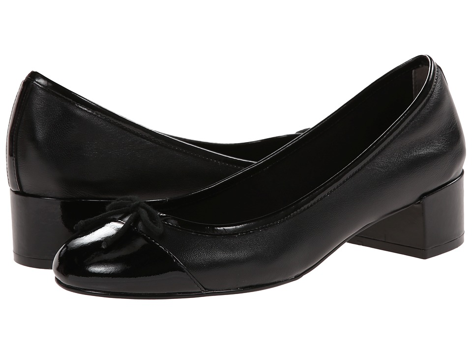 Cole Haan - Sarina Pump (Black/Black Patent) Women's Slip-on Dress Shoes