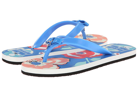 Kate Spade New York - Fifi (Ocean Blue Rubber/April Multi Floral Graphics) Women's Sandals