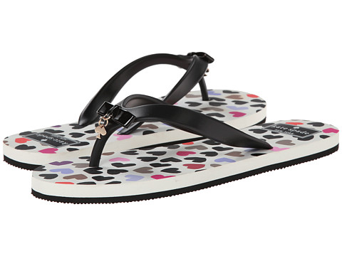 Kate Spade New York - Fifi (Black Rubber/Dancing Hearts Graphics) Women's Sandals