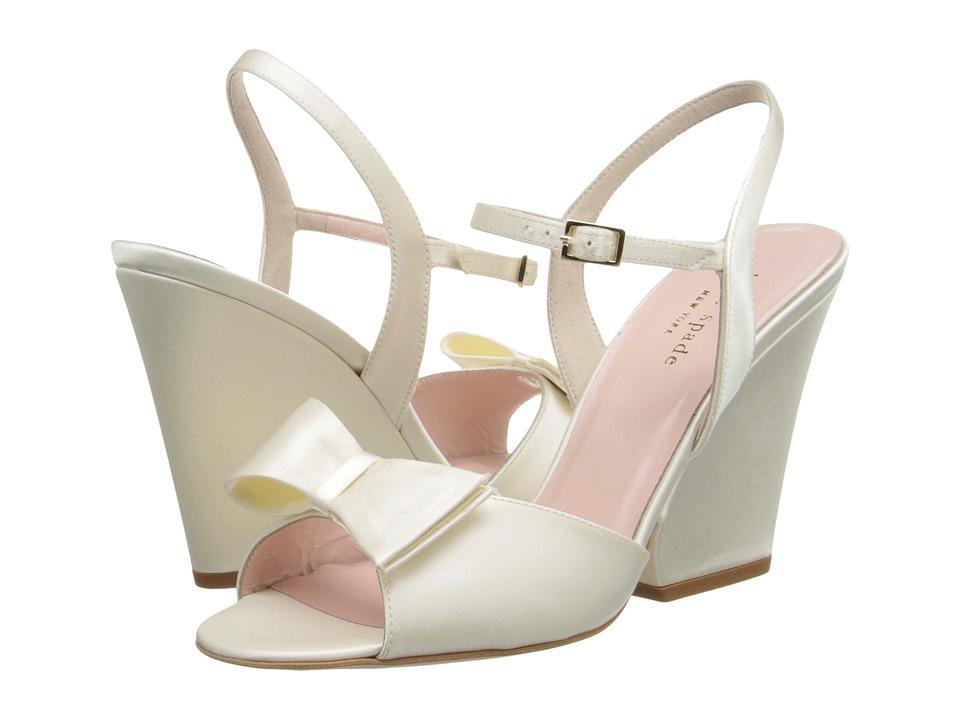 Kate Spade New York - Imari (Ivory Satin) Women's Wedge Shoes