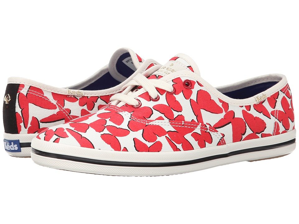 Kate Spade New York - Kick (High Risk Red Floating Butterfly Print Canvas) Girls Shoes