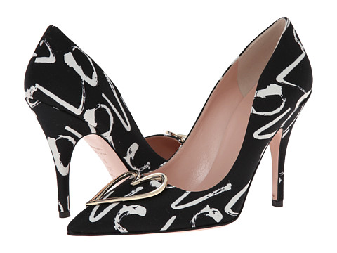 Kate Spade New York - Lava (Black/Cream Love Print Fabric) Women's Shoes