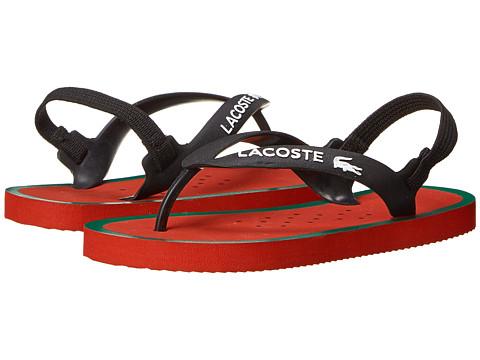 Lacoste - Nosara Strap FSM SP15 (Toddler/Little Kid) (Black/Red) Open Toe Shoes