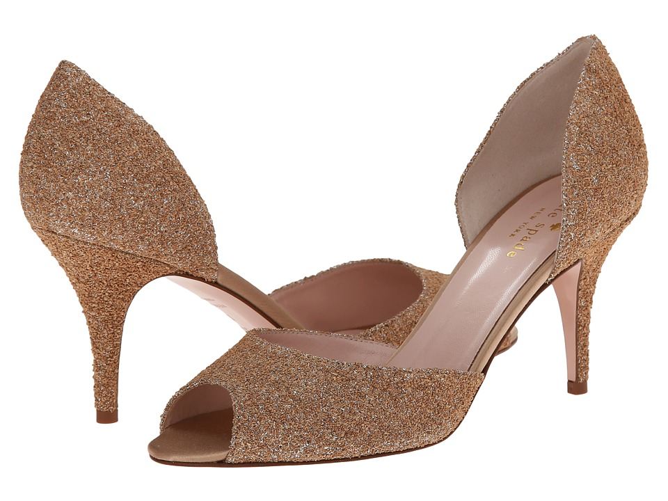 Kate Spade New York - Sage (Natural/Silver Glitter Cork) High Heels