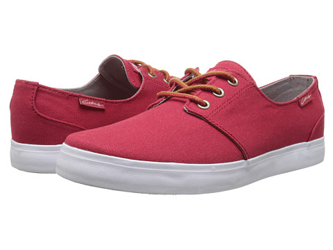 Circa - Crip (Pompeian Red/White) Men's Skate Shoes