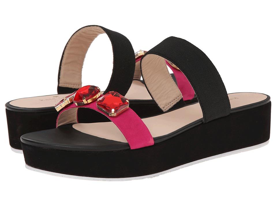Kate Spade New York - Taylor (Deep Pink Suede/Black Elastic) High Heels