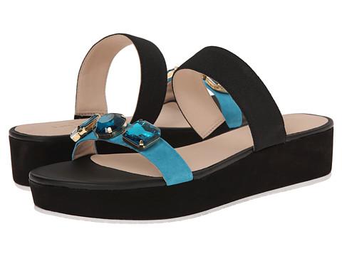 Kate Spade New York - Taylor (Turquoise Suede/Black Elastic) High Heels