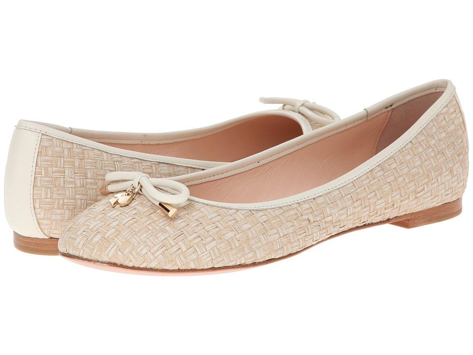 Kate Spade New York - Willa (Cream Woven Raffia/Cream Nappa) Girls Shoes
