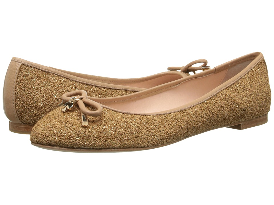 Kate Spade New York - Willa (Natural/Gold Glitter Cork/Natural Nappa) Women's Slip on Shoes