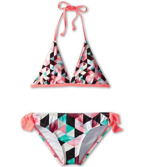 Hurley Kids - Prism Reversible Halter Retro Bottom with Ties (Big Kids) (Multi) Girl's Swimwear Sets