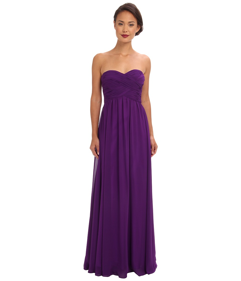 Faviana - Strapless Sweetheart Chiffon Dress 7338 (Purple) Women's Dress