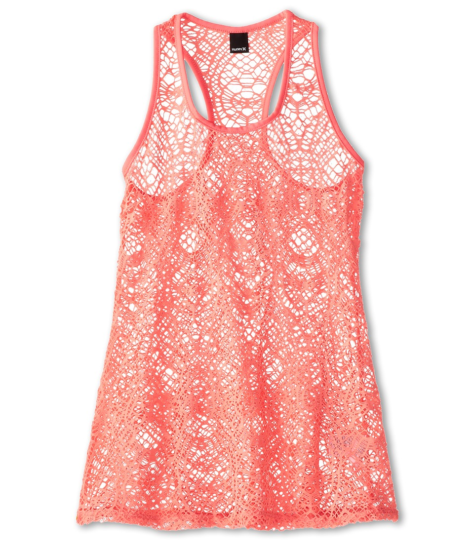 Hurley Kids - Prism Tunic Swim Cover up Dress (Big Kids) (Pink) Girl's Swimwear