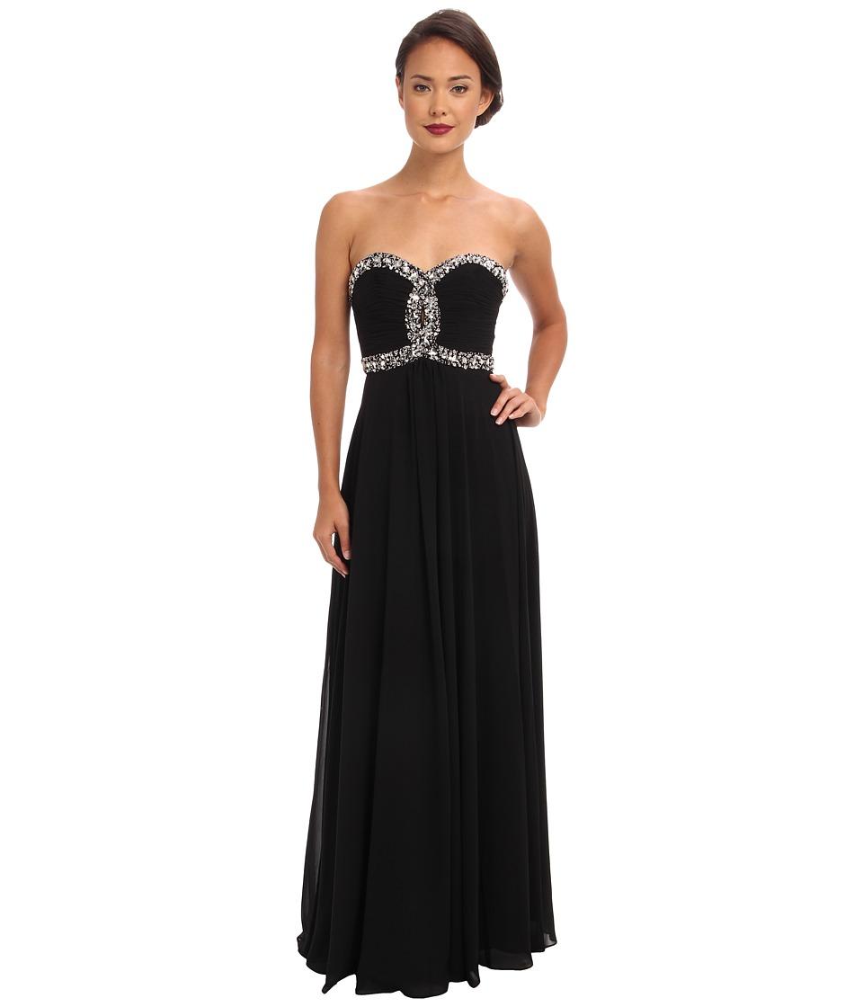 Faviana - Strapless Sweetheart Corset Back Dress 7366 (Black) Women's Dress