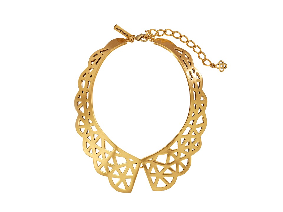 Oscar de la Renta - Scalloped Web Necklace (Russian Gold) Necklace