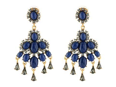 Oscar de la Renta - Cabochon Chandelier Earring (Navy) Earring