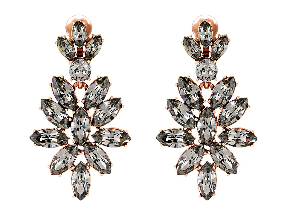 Oscar de la Renta - Navette Earring (Black Diamond) Earring