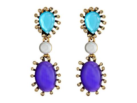 Oscar de la Renta - Star Earring (Aubergine/Navy/Aqua) Earring