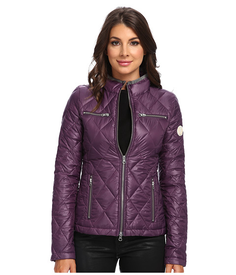 True Religion - Quilted Biker Jacket (Dark Violet) Women's Coat