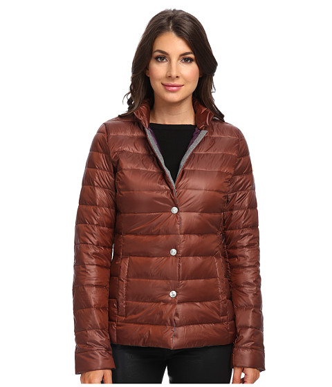 True Religion - Quilted Biker Jacket (Brown) Women