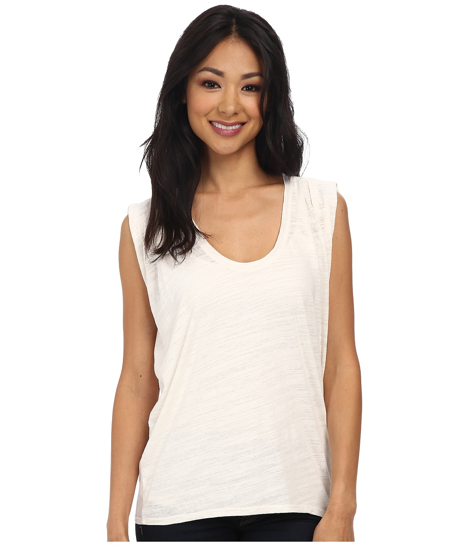 Velvet by Graham & Spencer - Vita02 Cap Sleeve Draped Scoop Neck Tee (Crystal) Women's T Shirt