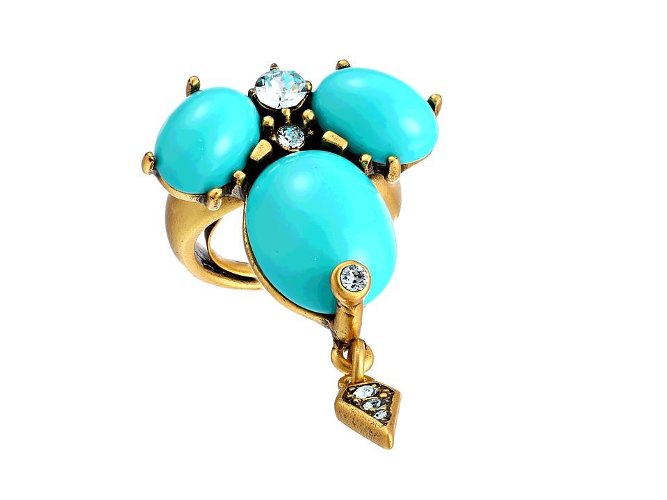 Oscar de la Renta - Oval Cabochon Ring (Aquamarine) Ring