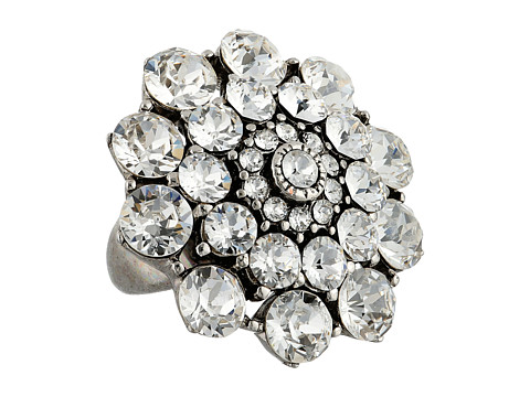 Oscar de la Renta - Jeweled Ring (Crystal/Silver) Ring