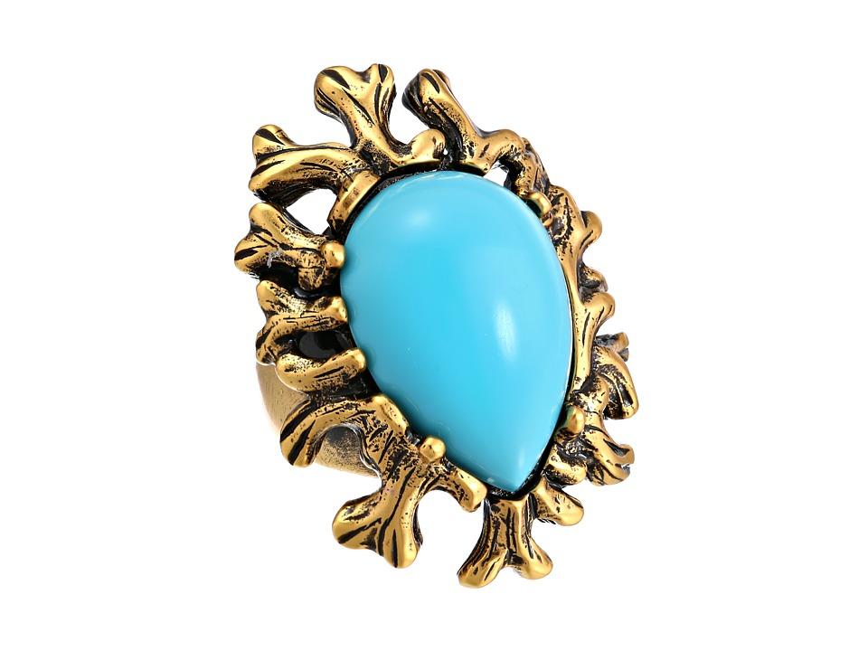 Oscar de la Renta - Coral Branch Ring (Aquamarine) Ring