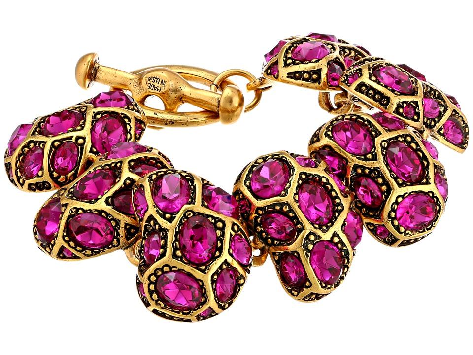 Oscar de la Renta - Bold Pave Bracelet (Fuchsia) Bracelet