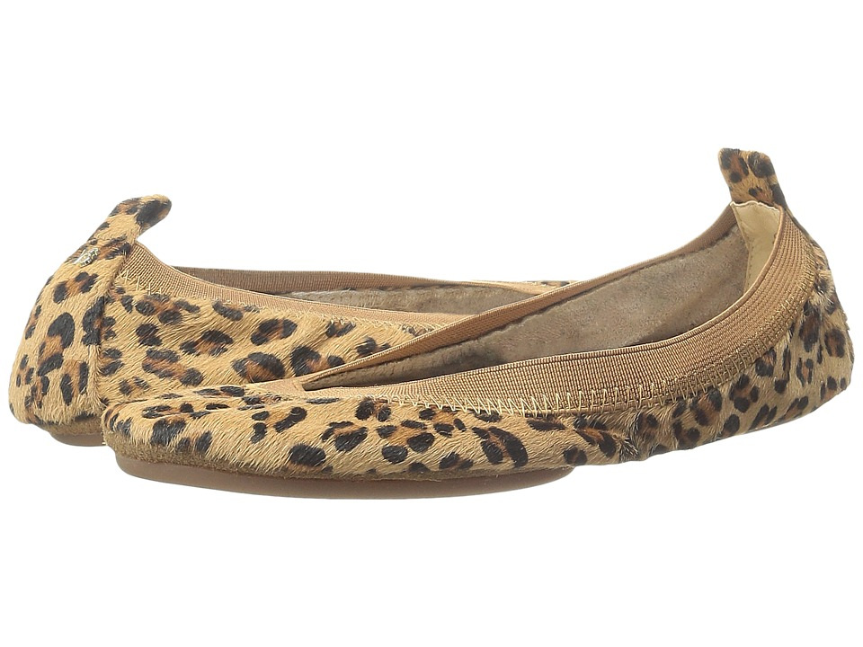 Yosi Samra - Samara Calf Hair Leather Fold Up Flat (Leopard) Women's Dress Flat Shoes