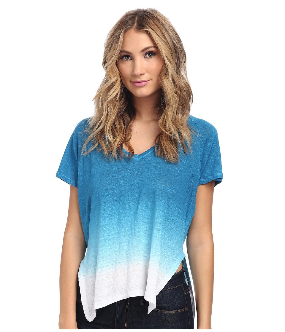 Velvet by Graham & Spencer - Emerald02 S/S V-Neck Tee (Ocean) Women's T Shirt