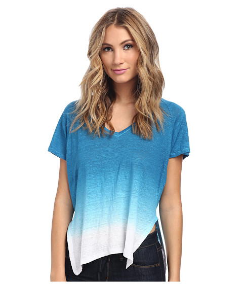 Velvet by Graham & Spencer - Emerald02 S/S V-Neck Tee (Ocean) Women's T Shirt