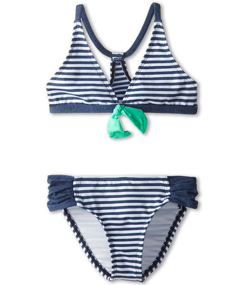 Splendid Littles - The Blues Too Halter Tab Side Pant (Big Kids) (Navy) Girl