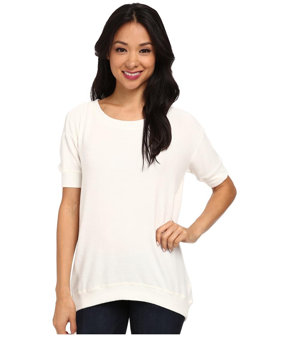 Velvet by Graham & Spencer - Aura02 S/S Pullover Sweatshirt (Cream) Women's Sweater
