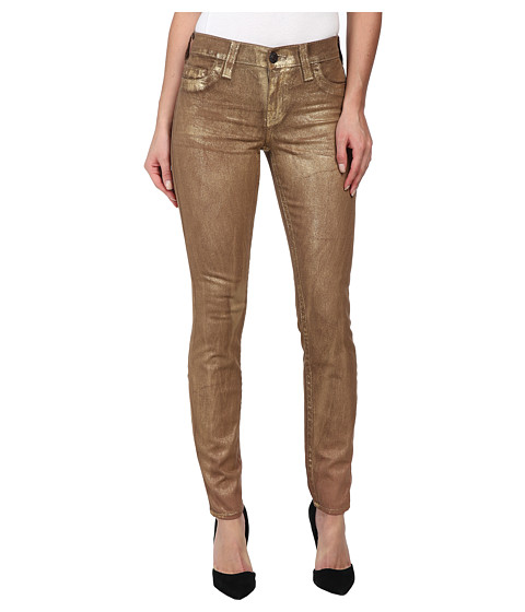 True Religion - Halle Super Skinny Legging in Metallic Gold (Metallic Gold) Women