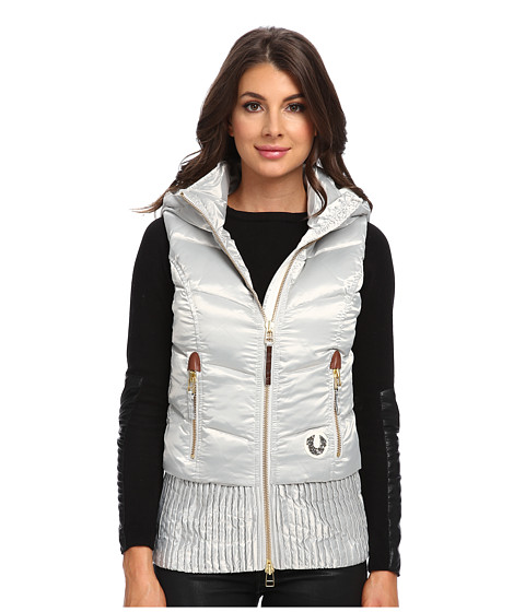 True Religion - Quilted Puff Gilet (Silver) Women