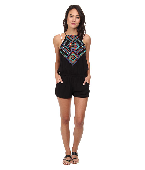 Nanette Lepore - Carmenita Covers Romper (Black) Women