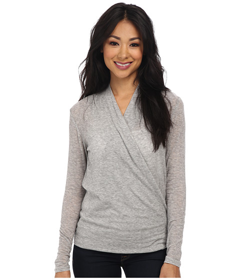 Velvet by Graham & Spencer - Fairy02 L/S Top (Heather Grey) Women