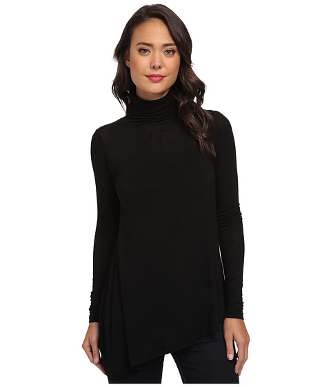 Velvet by Graham & Spencer - Jazzlyn02 L/S Turtleneck Top (Black) Women's Long Sleeve Pullover