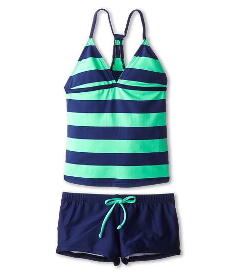 Splendid Littles - Marcel Stripe Tankini Boy Short (Big Kids) (Green) Girl