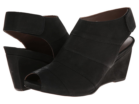 Earth - Manza Earthies (Black Nubuck) Women's Wedge Shoes