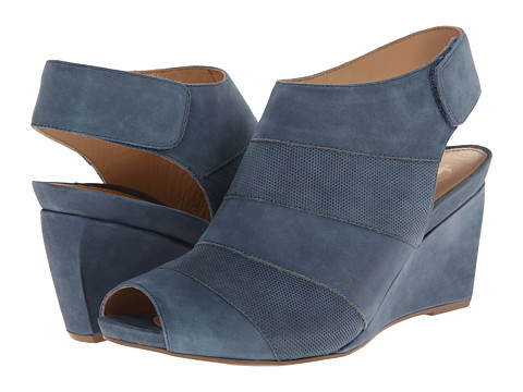 Earth - Manza Earthies (Moroccan Blue Nubuck) Women's Wedge Shoes