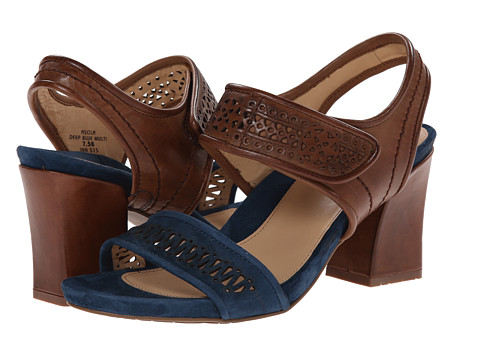 Earth - Asola Earthies (Deep Blue Multi Leather/Suede) High Heels