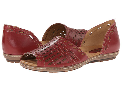 Earth - Shore (Regal Red Full Grain Leather) Women's Sandals