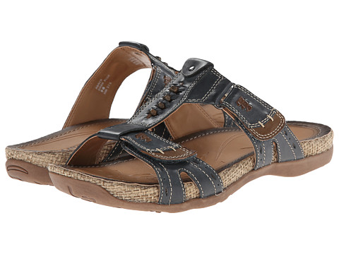Earth - Abaca (Dark Blue Full Grain Leather) Women's Sandals