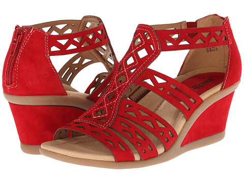 Earth - Petal (Bright Red Suede) Women's Wedge Shoes