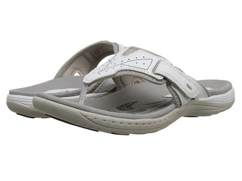 Earth - Colada (White Leather/Spandex) Women's Sandals