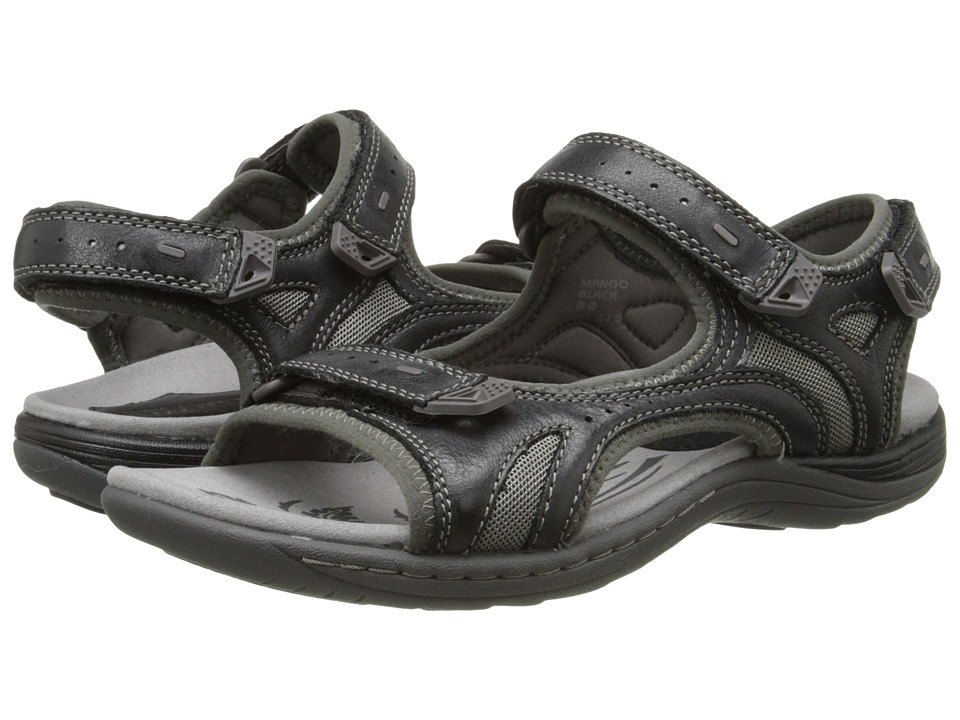 Earth - Mango (Black Leather/Mesh) Women's Sandals