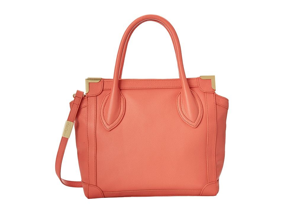Foley & Corinna - Framed Mini Shopper (Coral) Satchel Handbags