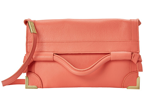 Foley & Corinna - Framed Flap Crossbody (Coral) Cross Body Handbags