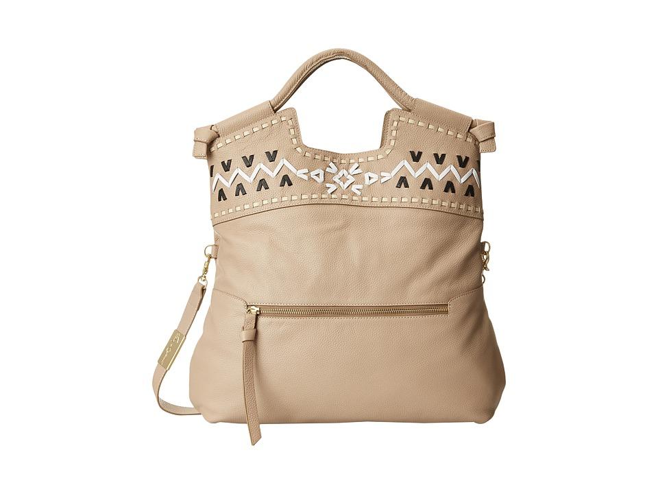 Foley & Corinna - Embellished Weave Mid City (Natural) Shoulder Handbags
